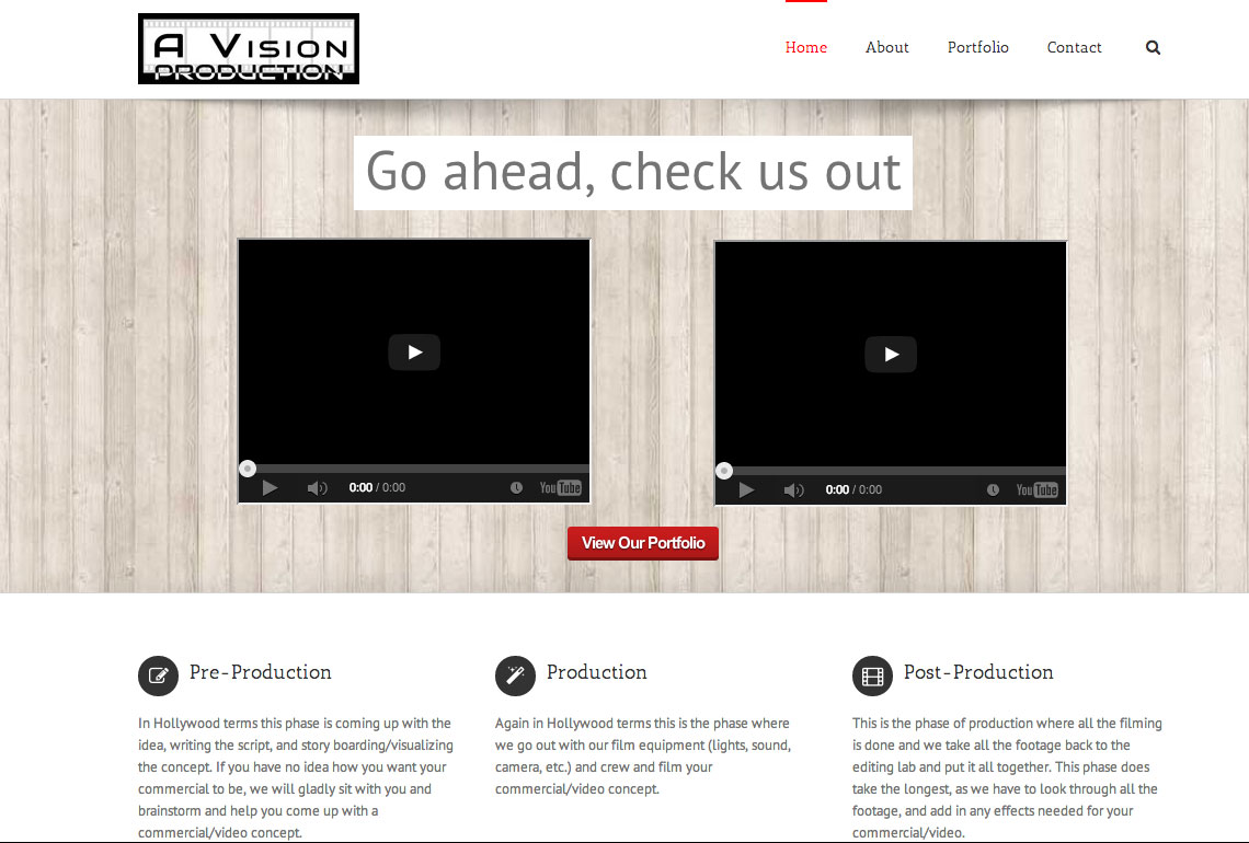 A Vision Production